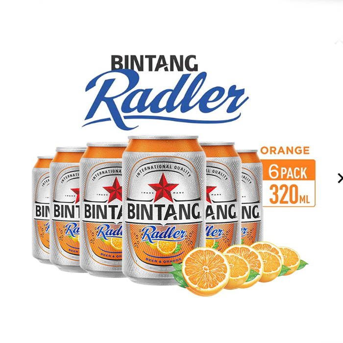 vines, jakarta, indonesia, Bintang Radler Orange Can 6 Packs