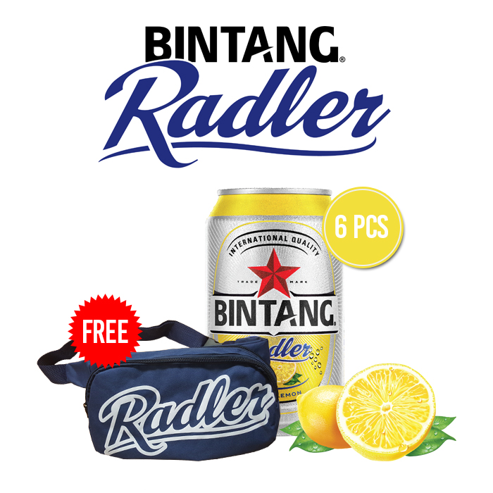 vines, jakarta, indonesia, Bintang Radler Lemon Can 6 Packs + Free Radler Sling Bag