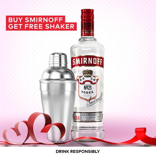 vines, jakarta, indonesia, Smirnoff Red Label Vodka 750ml & FREE Cocktail Shaker