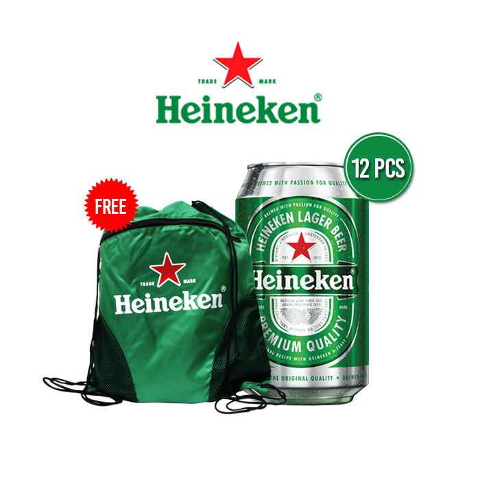 vines, jakarta, indonesia, Heineken Can 4 Packs + Free UEFA Drawstring Bag