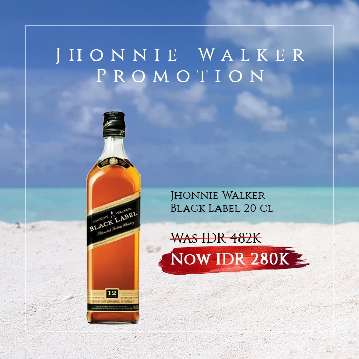 vines, jakarta, indonesia, Johnnie Walker Black Label 20cl
