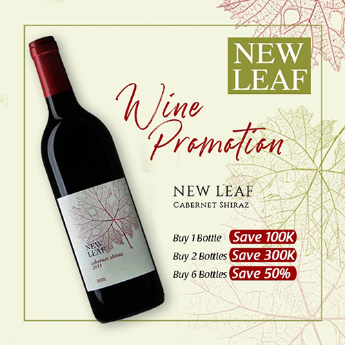 vines, jakarta, indonesia, New Leaf Carbernet Shiraz X 2 Bottles