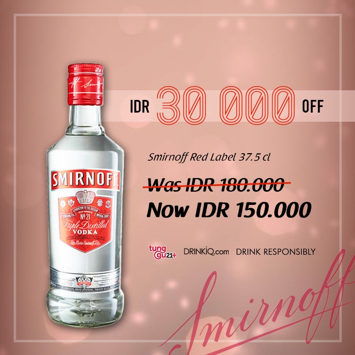 vines, jakarta, indonesia, Smirnoff Red label Vodka 375ml