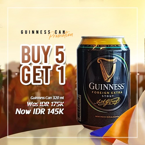 vines, jakarta, indonesia, Guinness Can Buy 5 Get 1 FREE