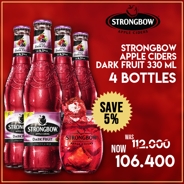 vines, jakarta, indonesia, Strongbow Apple Ciders - Dark Fruit 330 ml 4 Packs