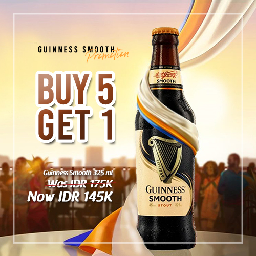 vines, jakarta, indonesia, Guinness Smooth Buy 5 Get 1 FREE